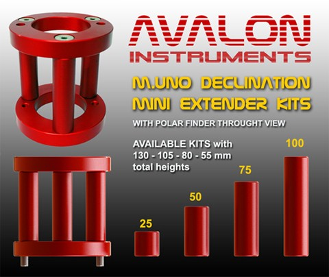 ACCESSORIES FOR M-UNO MOUNT. AVALON INSTRUMENTS