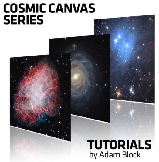 Cosmic Canvas: vdB 1 und NGC 520 - individual Image Processing Sessions with Adam Block with more than 138 minutes of instruction as well as the raw data for the NGC 520 and more than 200 minutes of ins