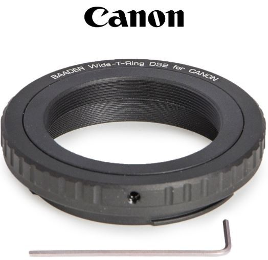 Wide T-Ring Canon EOS with D52i to T-2 and S52