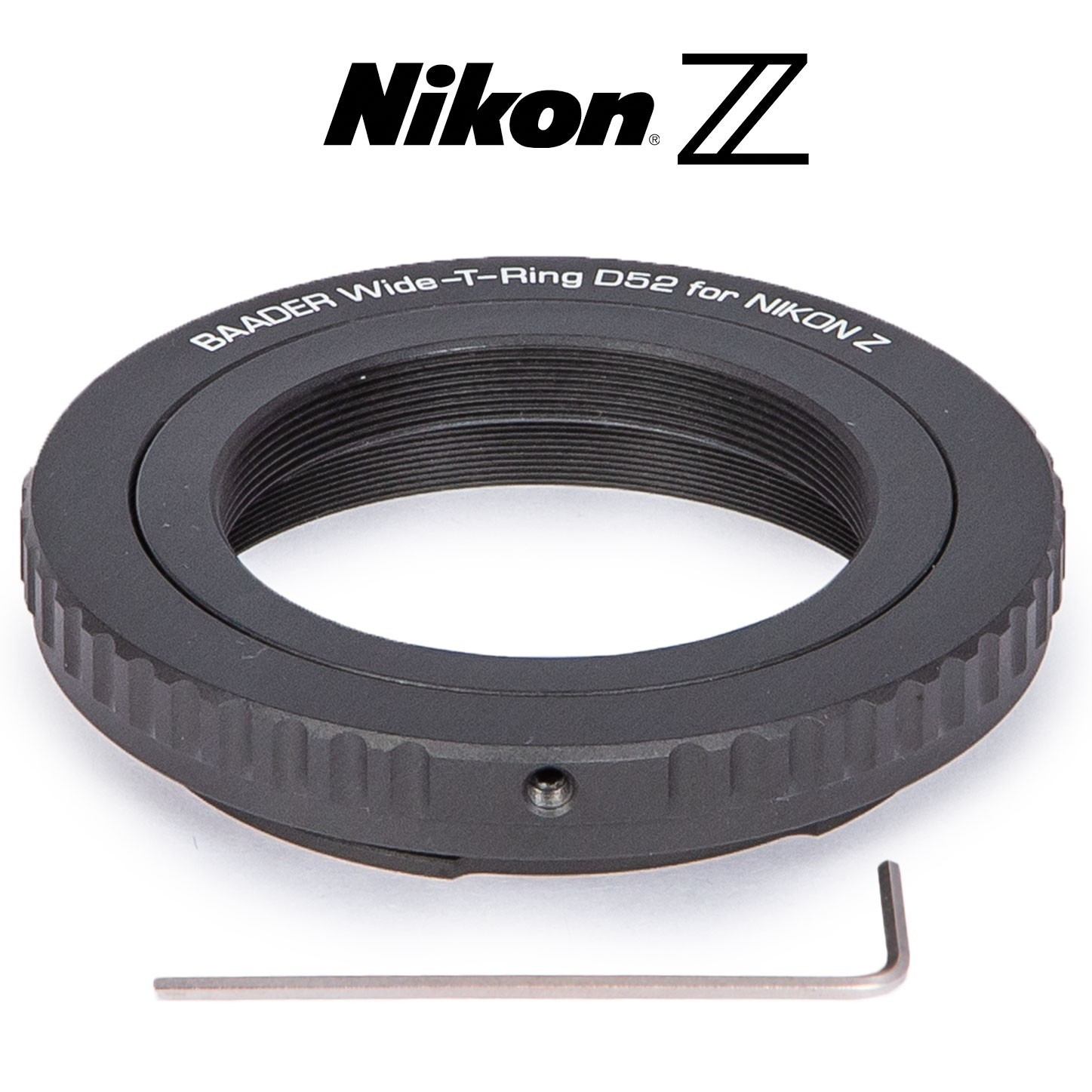 Wide T-Ring Nikon Z (for Nikon Z bajonet) with D52i to T-2 and S52