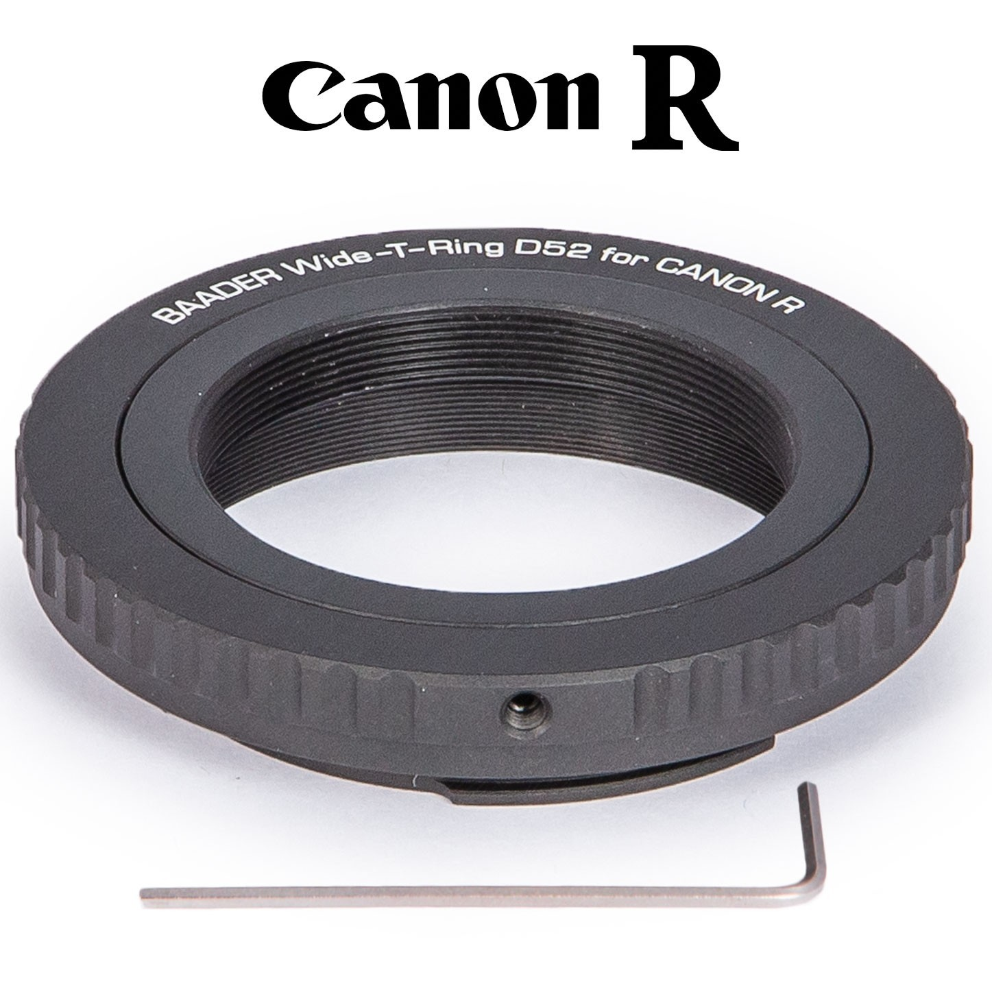Wide T-Ring Canon R (for Canon R bajonet) with D52i to T-2 and S52