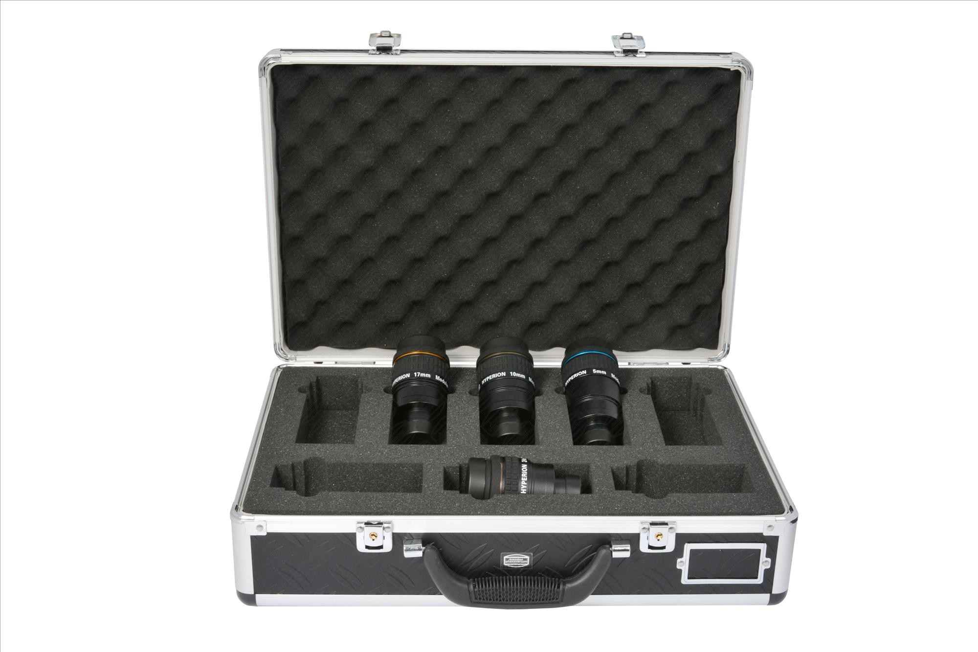 Starter Set of Hyperion Eyepieces 5/10/17/24mm  - incl. Eyepiece-Case and winged eyerest (#2454654) for each set-eyepiece
