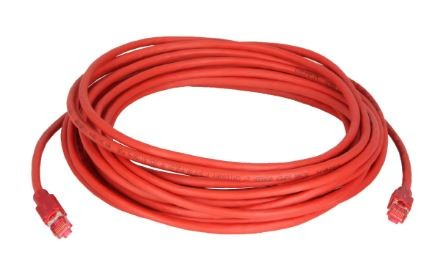 Network Cable (red) with ColdTemp-specified CAT-7 wire (CAT6a plug) 15 m long