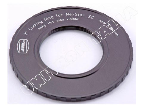2'' Locking Ring ( for Celestron SC''s 8''/9.25''/11''/14''),w. female 2'' thread (5 mm optical length)