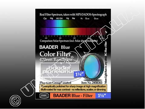 Baader Filtro Blu visuale da 1¼'' (31.8mm). Passabanda da 470nm