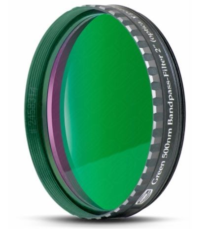 Baader Filtro Verde visuale da 2'' (50.8mm). Passabanda da 500nm