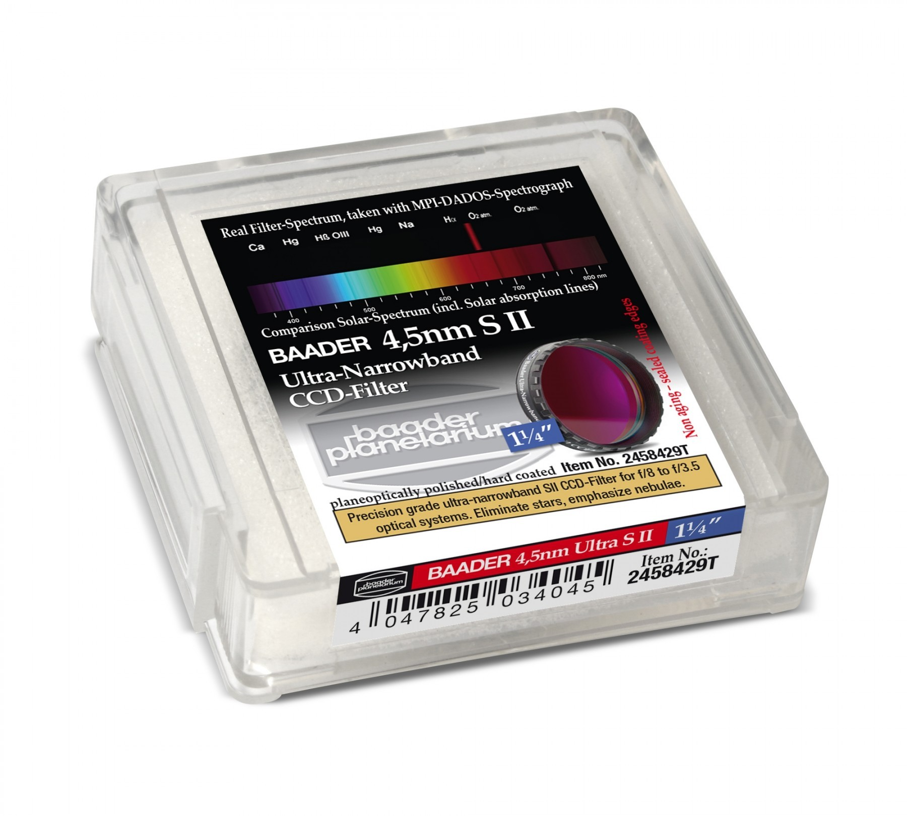 Baader Filtro SII Ultra-Narrowband 4.5nm 31.8mm (con LPFC)