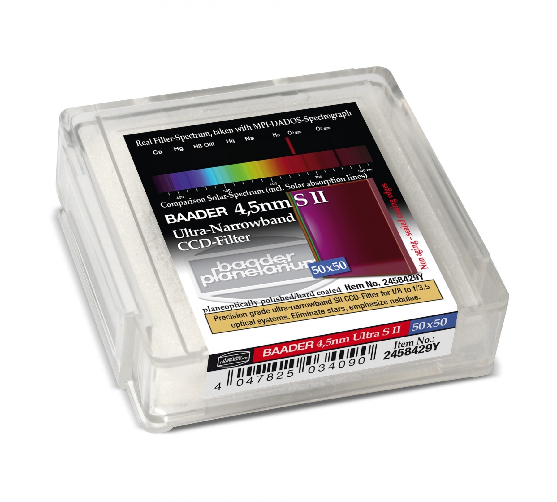 Baader Filtro SII Ultra-Narrowband 4.5nm 50x50.mm (con LPFC)