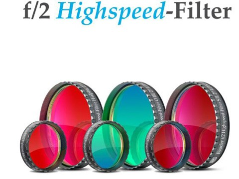 Set Filtri f/2 Highspeed H-alpha, O III, S II da 2