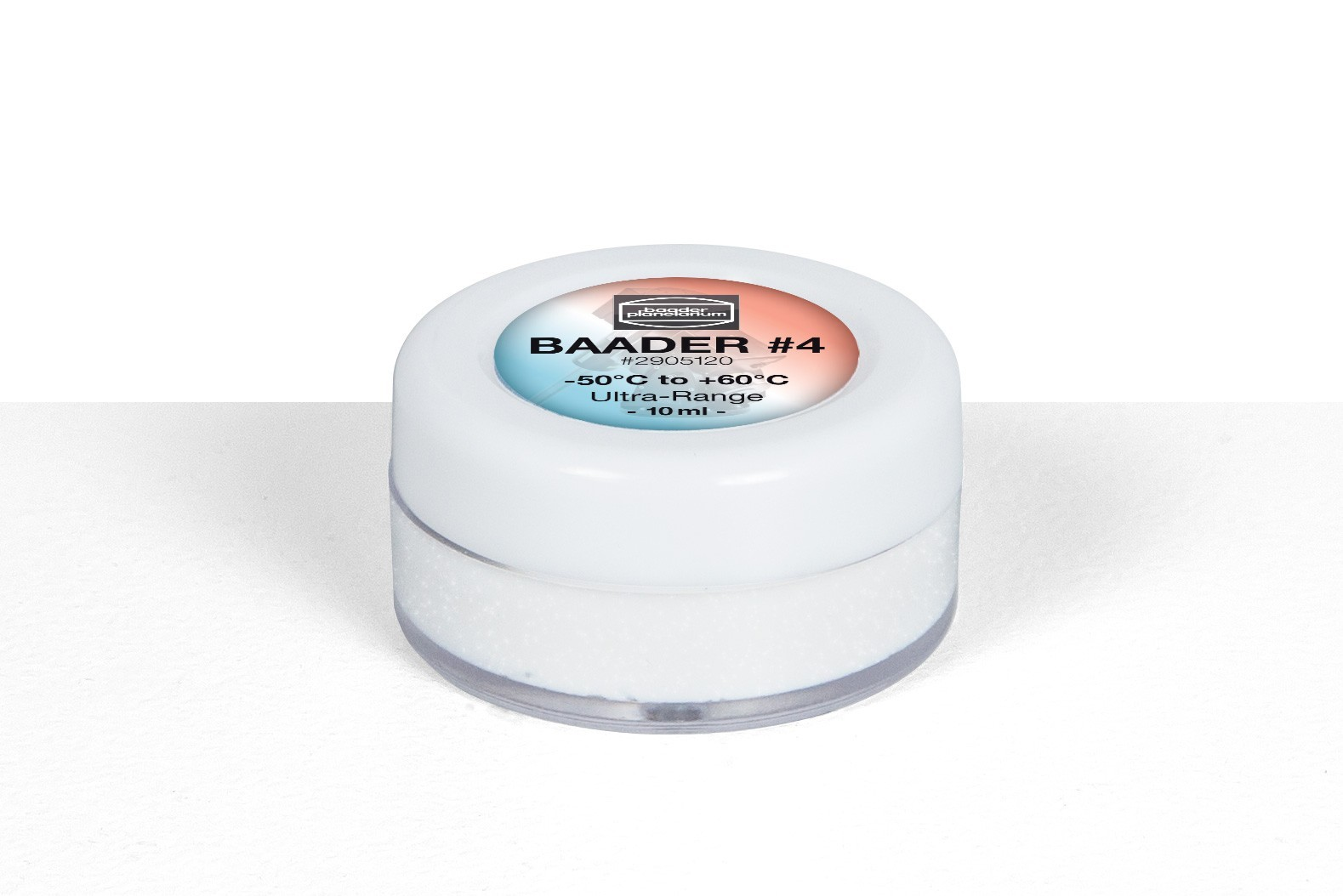 Baader Machine-Grease #4 Ultra-Range, from -50°C up to +60°C - wide stretched synthetic grease with constant viscosity across an extremely large temperature-range. Especially suitable for use in the mirror sliding fittings of SC-telescop