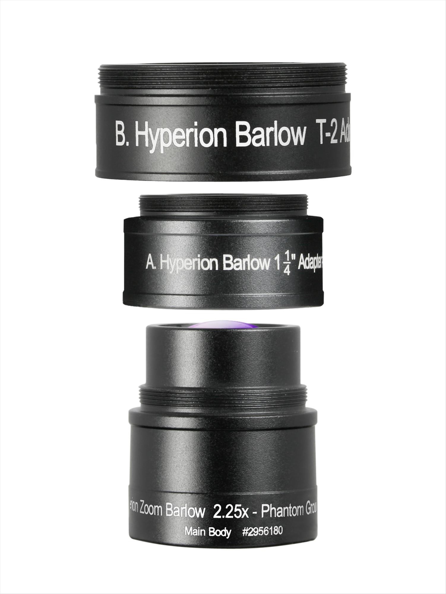 Baader Lente di Barlow 2.25x specifica per oculare Hyperion Zoom, Multi Coated