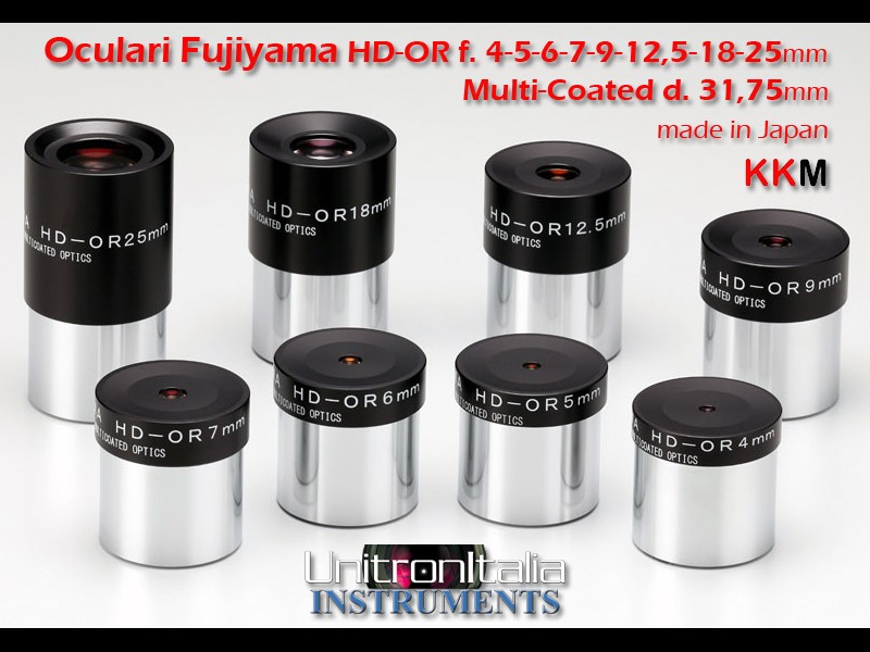 Oculare Fujiyama HD-OR f.l. 25 mm di alta qualità made in Japan, C.A. 42°, Multi-Coated d,31,8mm - ULTIMI PEZZI