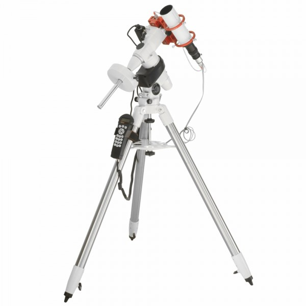 Kit con EagleCORE WIFI K1 - incluso: Montatura Skywatcher EQ5, Eaglecore WIFI, telescopio guida con supporto Eagle, Camera guida QHY 5IIM, cavo di collegamento montatura/eagle, morsetto, 2 flange.