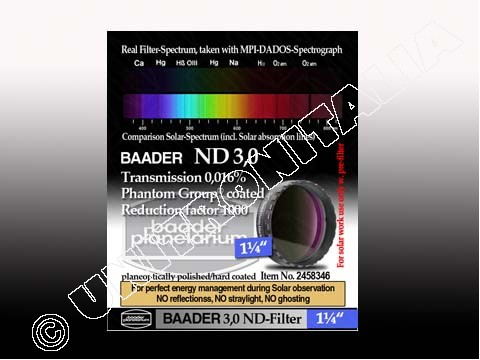 FILTRI ND BAADER - NEUTRAL DENSITY (GRIGIO). Baader Planetarium