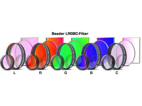 KIT FILTRI RGB CCD BAADER: DIAMETRI 31.8mm, 31mm, 36mm, 2